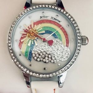 New Betsey Johnson rainbow watch with gift box